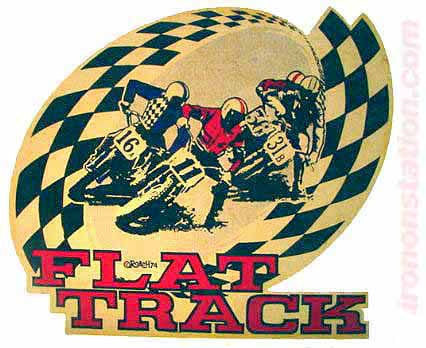 FLAT TRACK Moto X Hot Rod Vintage tee shirt Iron On Authentic 70s Nos by Roach 1974