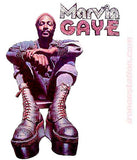 MARVIN GAYE 70s Vintage tee shirt Iron On Authentic NOS retro 1970s