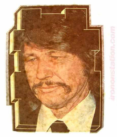 CHARLES BRONSON Vintage Iron On tee shirt transfer Original Authentic NOS