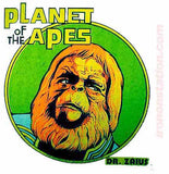 1967 PLANET of the APES Vintage t-shirt iron-on transfer Dr. Zaius Original Authentic NOS 70s retro