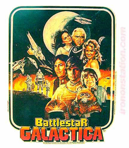 battlestar galactica, tv, vintage, 70s, t-shirt, iron-on