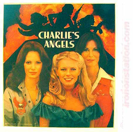 CHARLIES ANGELS 1978 Original 70s Vintage TV Iron On tee shirt transfer Authentic nos retro
