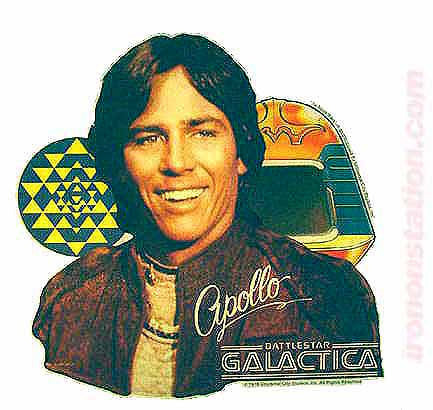 battlestar galactica, apollo, vintage, 70s, t-shirt, iron-on