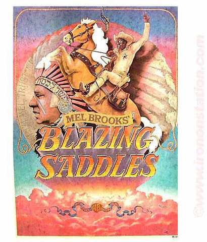 mel brooks, blazing saddles, vintage, t-shirt, iron-on