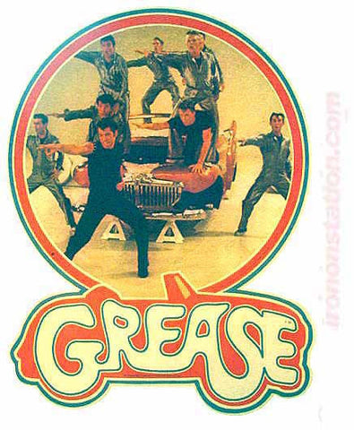 1978 GREASE John TRAVOLTA Olivia Newton John 70s TV Vintage Iron On tee shirt transfer Original Authentic nos retro