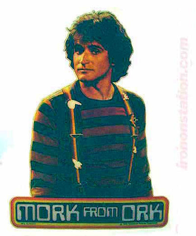 vintage, mork, mindy, robin williams, t-shirt, iron-on, diy, american fashion, ork
