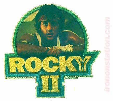 1979 ROCKY II Balboa Sylvester Stallone 70s Vintage Movie Iron On tee shirt transfer Original Authentic nos retro