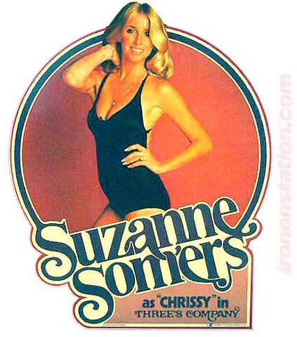 suzanne somers, chrissy, threes company, vintage t-shirt iron-on
