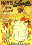 May's Choice Vegetable Seeds 70s Vintage Iron On tee shirt transfer Original Authentic Turn of Century Posters as ironons