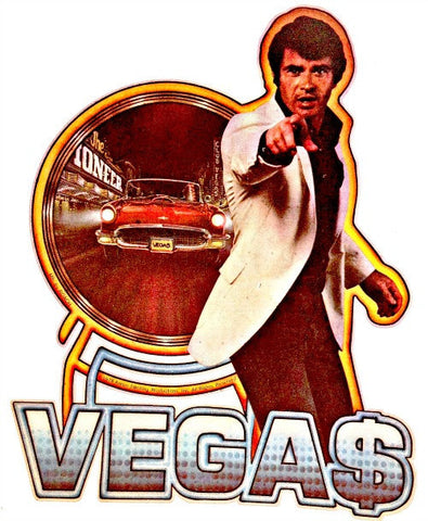 vtg 1978 VEGAS TV Series t-shirt iron-on transfer NoS Robert Ulrich Tanna Aaron Spelling