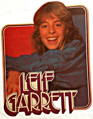 leif, garrett, 70s, vintage, t-shirt, iron-on
