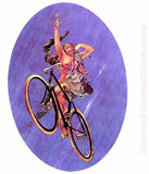 nude, angel, bike, bicycle, 70s, vintage, t-shirt, iron-on