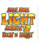 "Beer ""Make Mine Light Morning Noon n Night"" Vintage Iron On tee shirt transfer Original Authentic NOS 70s booze americana"