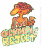 "Beer ""OLYMPIC REJECT"" Vintage 70s Iron On tee shirt transfer Original Authentic retro 70s booze americana fashion"