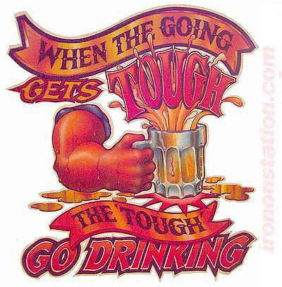 "Beer ""Going GetsTOUGH, touch Go DRINKING"" Vintage 70s Iron On tee shirt transfer Original Authentic retro 70s americana fashion"