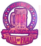 Beer Drinkers HALL of FAME Vintage 70s Iron On tee shirt transfer Original Authentic retro 70s americana fashion