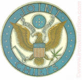"420 JOINT CHIEFS ""Pluribus Tokum Up"" Marijuana Pot political 60s 70s Vintage Iron On tee shirt transfer retro nos"