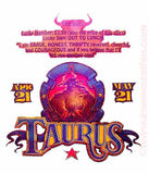 ASTROLOGY TAURUS Vintage 70s t-shirt iron-on retro zodiac tee shirt iron on transfer