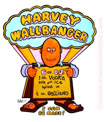HARVEY WALLBANGER Roach 1972 Vintage Iron On tee shirt transfer Original Authentic deadstock NOS 70s booze americana fashion