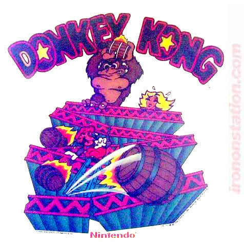 1982 Donkey Kong Nintendo arcade game gorilla mario Vintage 70s Iron On tee shirt transfer Original Authentic