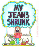 "Cathy Comic Strip Cartoon ""My Jeans Shrunk"" Vintage 70s Iron On tee shirt transfer Original Authentic"