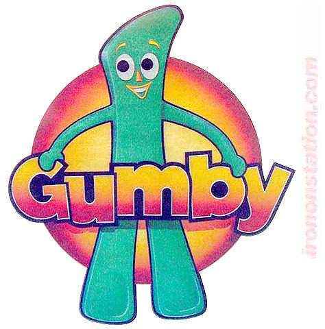 "Gumby ""Howdy Doody"" Gingerbread Man Vintage 70s Iron On tee shirt transfer Original Authentic"