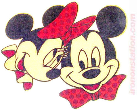 Mickey Mouse and Minnie Disney Vintage 70s Iron On tee shirt transfer Original Authentic