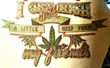 420 Marijuana I Get High with a little Help from my Friends 70s Vintage Iron On tee shirt transfer weed t-shirt pot iron-on