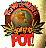 420 Marijuana The Whole World is Going to POT 70s Vintage Iron On tee shirt transfer weed t-shirt iron-on