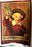 Vintage 70s READING BREWERY Co t-shirt iron-on retro Booze tee shirt transfer