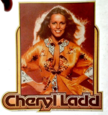 cheryl ladd, charlies angels, vintage t-shirt iron-on, patch, decal