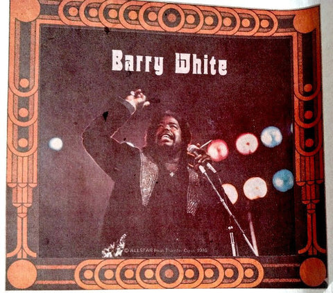 barry white 70s t-shirt iron-on