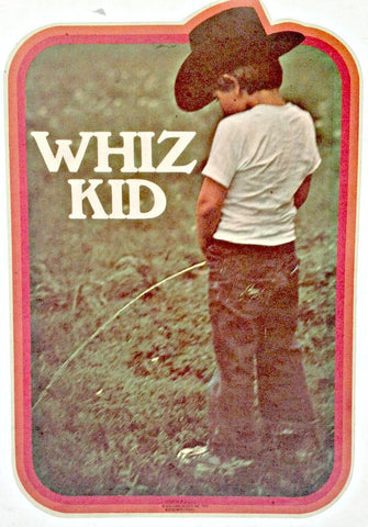 WHIZ KID 70s Vintage t-shirt iron-on cowboy retro tee shirt transfer nos new old stock