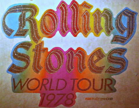 rolling stones, 1978, world tour, vintage, t-shirt, iron-on