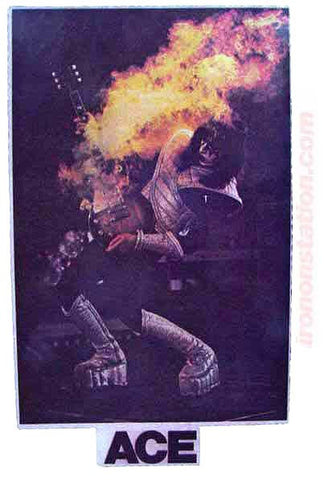 ace frehley, kiss, vintage, 70s, t-shirt, iron-on