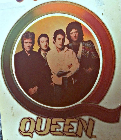 QUEEN Vintage 70s Band t-shirt iron-on nos Freddy Mercury rock concert retro tee