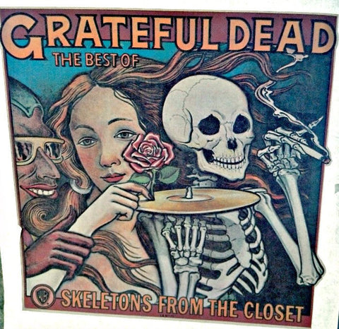 jerry garcia, skeletons, closet, grateful dead, vintage, 70s, t-shirt, iron-on