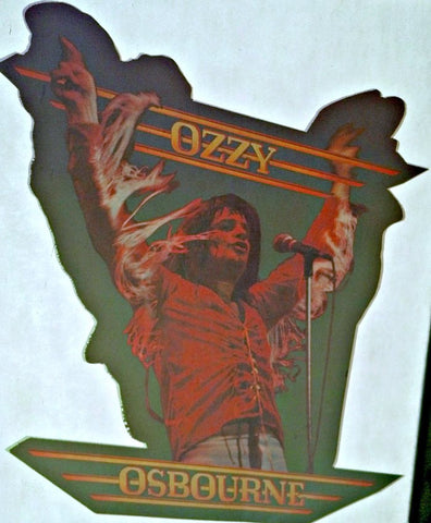 Ozzy Osbourne Vintage 70s Heavy Metal t-shirt iron-on retro tee diy transfer nos black sabbath