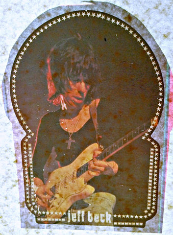 jeff beck, yardbirds, vintage, band, t-shirt, iron-on, 70s, rock
