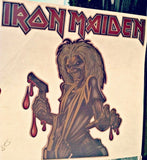 IRON MAIDEN 70s 80s Vintage t-shirt iron-on transfer nos retro The Number of the Beast
