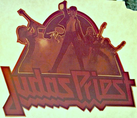 JUDAS PRIEST 70s Vintage band t-shirt iron-on S&M Breaking the Law retro tee transfer nos new old stock