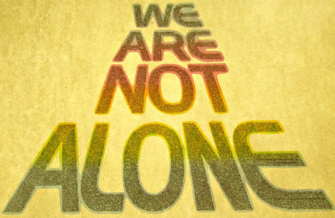close encounterrs, we are not alone, vintage, t-shirt, iron-on, lucas, film, nos