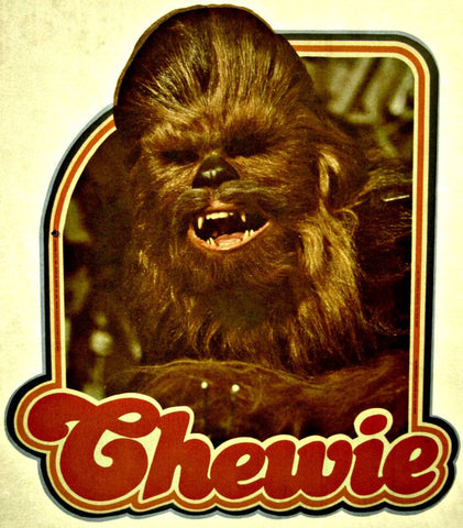 Star wars, Chewie, chewbacca, vintage, t-shirt, iron-on