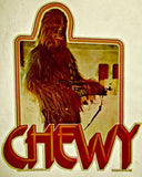 wookie, chewy, star wars, vintage, t-shirt, iron-on