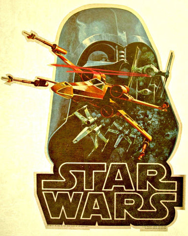 star wars, darth vadar, defender, spaceship, vintage, t-shirt, iron-on