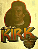 star trek, captain kirk, james, admiral, 70s, 80s, vintage, t-shirt, iron-on