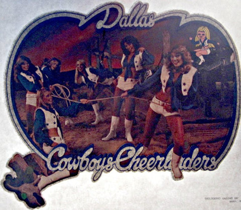 DaLLaS COWBOYS CHEERLEADERS Vintage 70s t-shirt iron-on transfer Original Authentic Retro New Old Stock NFL