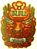 Vintage 70s TAURUS t-shirt iron-on Astrology retro zodiac tee shirt iron on transfer glitter