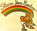 CuTe SHARE Your RAINBOW 70s Vintage t-shirt iron-on retro tee shirt transfer nos american fashion