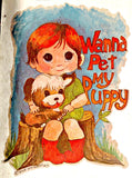 CuTe WaNNa PeT My PUPPY 70s Vintage t-shirt iron-on retro tee shirt transfer nos american fashion